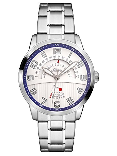 s.Oliver Herren Analog Quarz Uhr mit Edelstahl Armband SO-3223-MM