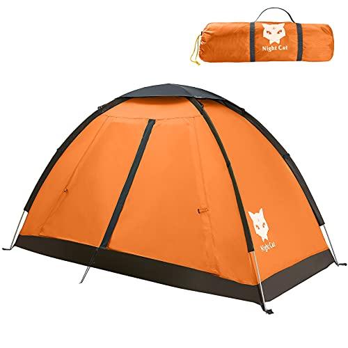 Night Cat Campingzelt für 1 2 Person Mann Zelte wasserdichte Rucksackzelte Einfache Einrichtung Leichtgewichtig für Wanderungen im Hinterhof