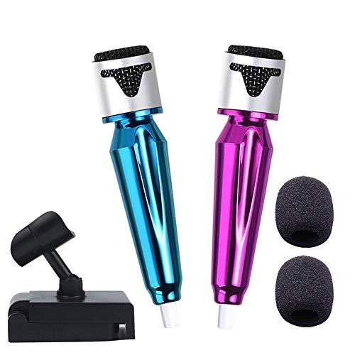 Mini micrófono,2 mini micrófono portátil para teléfono m