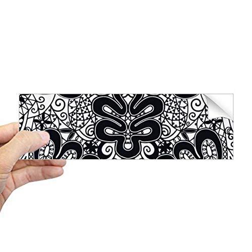 DIYthinker Europa Schwarz Weiß Muster Rokoko Stil Rechteck Bumper Aufkleber Notebook Fenster Aufkleber