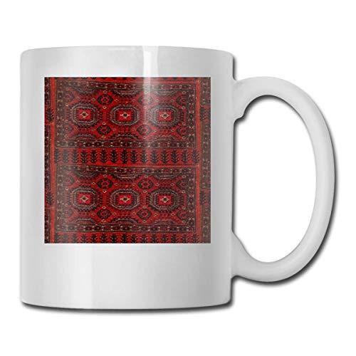 haoqianyanbaihuodian Taza de cerámica con aspecto de alfombra roja oriental, código de 330 ml