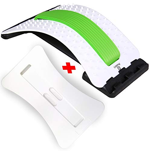 wooden back stretchers Back Stretcher As Seen Doctors TV with 2 Different Boards, CHISOFT Lumbar Stretching Device + 2 Foam Cushion + Arched Back Stretching Device, Posture Corrector, Spine Decompression, Lumbar Traction, Sciatica Relief