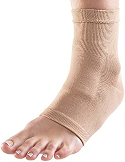 NatraCure Fitted Dorsum Protection Sock Gel Sleeve (S/M) For Relief from Lace Bite from Ice Skating and Hockey