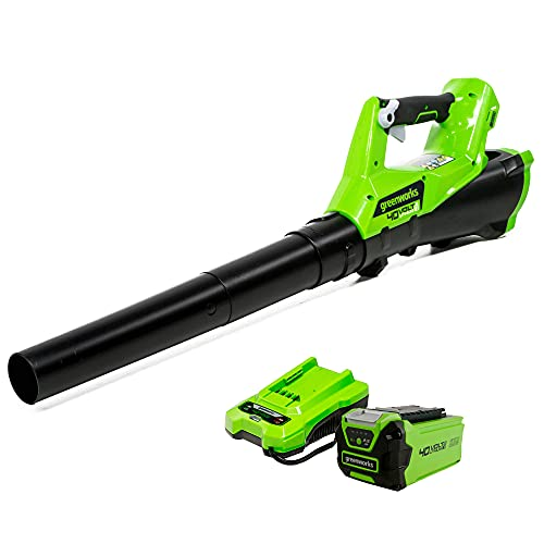 Greenworks 40V (110 MPH / 390 CFM) Cordless Axial Blower, 2.0Ah Battery and Charger Included 2400802