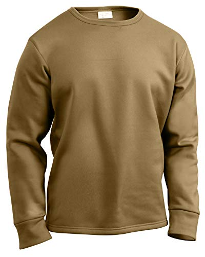 Rothco ECWCS Poly Crew Neck Top, Coyote Brown, XX-Large