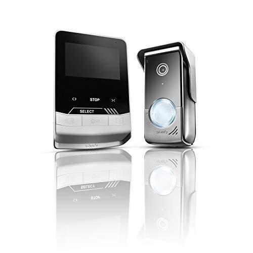 Somfy 1870535 - Videoportero V100+, Videoportero 2 Hilos, con Pantalla a Color y Control RTS para persianas Somfy, Placa de Calle compacta con visión Nocturna