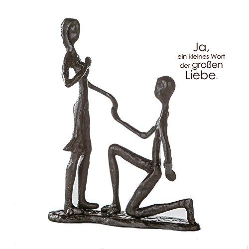 Casablanca Design Sculpture brunie H 17 cm Marry Me Lot de 2 B 14 cm T.5 cm en Fer