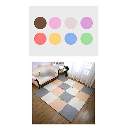 LXZFJW Baldosas de espuma entrelazada Puzzle Mat con espuma EVA azulejos de piso protectores de suelo enclavamiento gris+blanco+rosa 60×60×1cm 8pcs