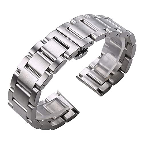 RVTYR Mira la Correa, sólido 316L de Acero Inoxidable Reloj de Reloj de Plata 18 mm 20 mm 21 mm 22 mm 23 mm 24 mm Reloj de Reloj de Metal Correa Relojes de Pulsera Pulsera Pulsera Correas de Repuesto