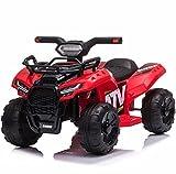 Mondial Toys Moto ELETTRICA per Bambini Mini Quad 6V ATV Full Optional Rosso