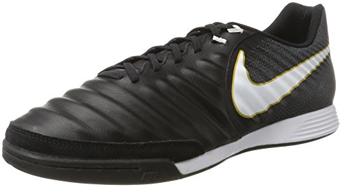 Nike Tiempox Ligera IV IC, Scarpe da Calcio Uomo, Nero (Black/white/black/metallic Vivid Gold), 45.5 EU