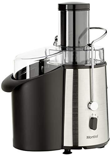 Montiss Entsafter für Obst und Gemüse, Filter aus rostfreiem Stahl, 1 l Saftkanne, starker 850 Watt-Motor, mehrere Geschwindigkeitsstufen