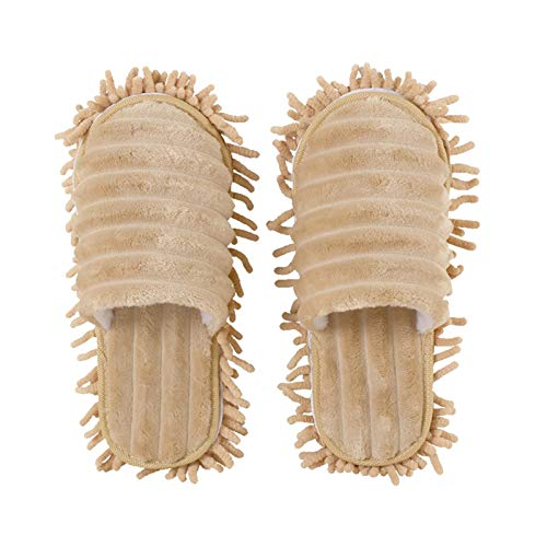 Benedict 1 par de paños para limpieza de mopa, zapatillas de estar por casa, cubiertas para zapatos extraíbles, 1 par de mopas de limpieza