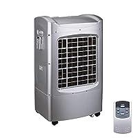 リビングデバイス42パイントポータブル蒸発空気冷却器蒸発空気冷却器加熱冷却リモコン付きシルバー