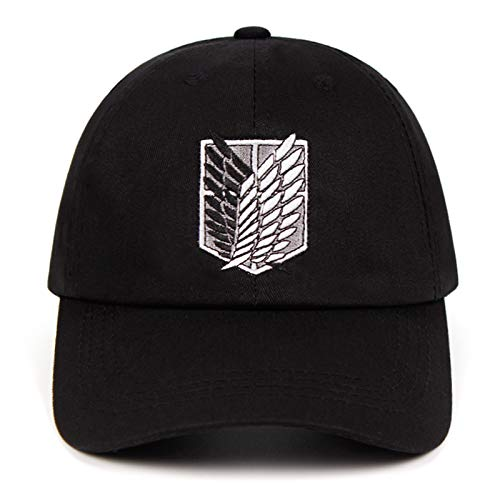 Attack on Titan hat Anime Baseball Cap Dad hat for Men Black