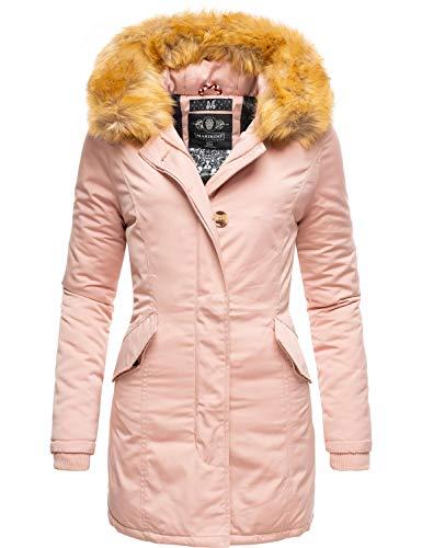 Marikoo Damen Winter Mantel Winterparka Karmaa Rosa Gr. XL