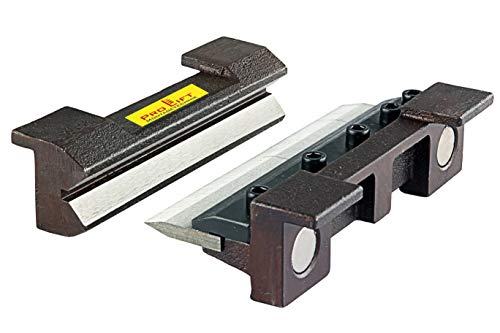 Abkantbacken 150 mm Biegebacken mit Magnet Winkel-Bieger manuell Blechbiegearbeiten Schraubstock Schonbacken