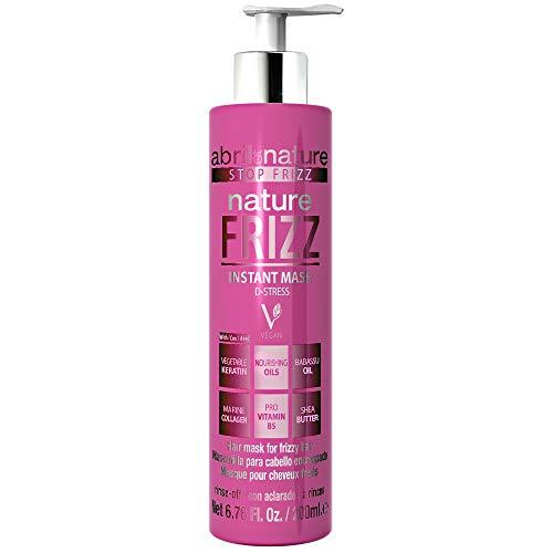 abril et nature | Mascarilla Capilar Anti Frizz NATURE FRIZZ | Mascarilla Profesional de Peluquería Unisex Antiencrespamiento | 100% Vegano | Fácil peinado y suavidad - 200ml