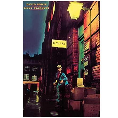 QQWER David Bowie Ziggy Stardust Poster Dipinti su Tela Immagini di Arte della Parete Stampe Home Decor -50X70Cmx1Pcs -Nessuna Cornice