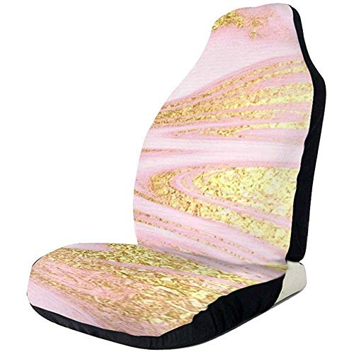 MJDIY Auto Seat Cover,Powder Rose Gold Abstract Flow Protector De Asie