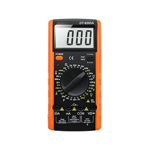 Multimeter Professionelle DT9205A AC DC LCD Display Elektrische Multimeter Handheld Tester Meter Digital Multimetro Amperemeter Multitester Elektronisches Multimeter