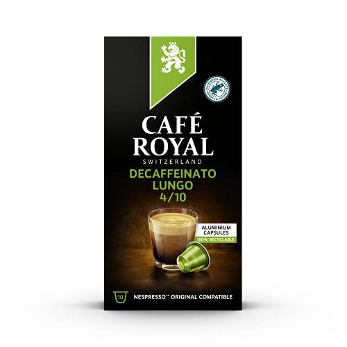 Café Royal Lungo Decaffeinato 100 Nespresso®* kompatible Kapseln (aus Aluminium, Intensität 4/10) 10er Pack (10 x 10 Kaffeekapseln)