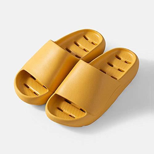 MQQM Chanclas de Playa y Piscina para Unisex Suave,Baño Tomando una Ducha Zapatillas, Pareja Interior-Yellow_35-36,Zapatillas de Ducha para Mujeres
