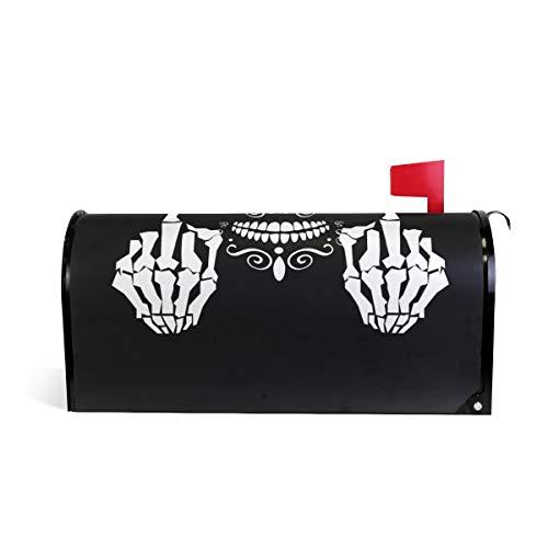 funnyy Witzige witzige Briefkasten-Abdeckung mit Totenkopf-Motiv, magnetisch, Standardgröße 5,8 x 45,7 cm