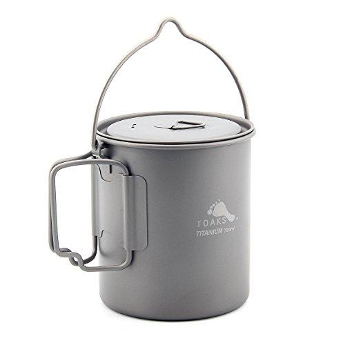 Toaks Mug portable en titane ultraléger, tasse à eau, Pot de 750 ml.