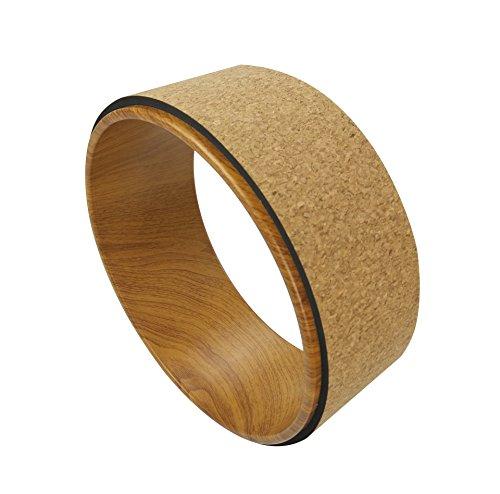 QUBABOBO rueda de yoga ABS + Camo Dharma Yoga estiramiento / soporte apoyo círculo, Pilates plantea y backbende Ejercicio, deck Pose (13 'x5')
