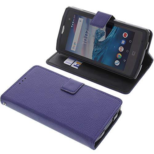 foto-kontor Tasche für CrossCall Core X3 Book Style blau Schutz Hülle Buch