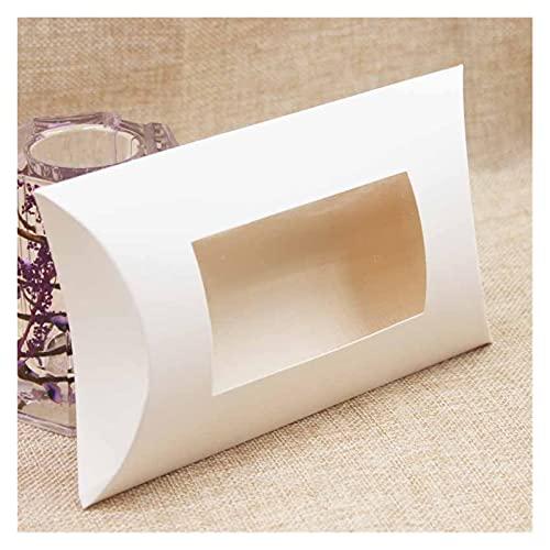 Heinside Caja de Regalo de Papel en Blanco de Bricolaje. Caja de Regalo de Almohada de tamaño. Sencillo (Color : Color as pic, Gift Box Size : 175x110x37mm)