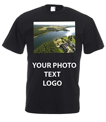 MFAZ Morefaz Ltd Homme Femme T-Shirt Personnalisé Chemise de Texte de Photo de fête de Vacances Halloween (M, Noir)