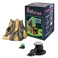 Hydor H2Show Wonders Ornament Kit - Stump, Green LED by Hydor
