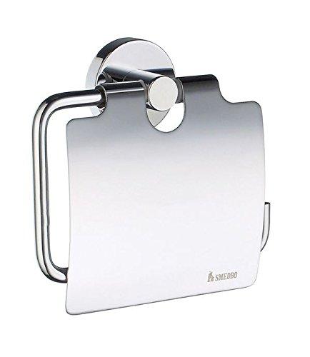 Smedbo Home Toilettenpapierhalter mit Deckel HK 3414 OHNE BOHREN. NUR KLEBEN