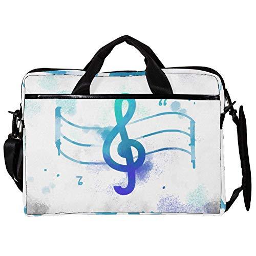 Nota musicale, spartiti, romanticismo Borsa per laptop Borsa a tracolla per notebook Tablet PC con tracolla Borsa per borsa da trasporto in tela Messenger Borsa per donna, uomo 38.1x27.94x2.54cm