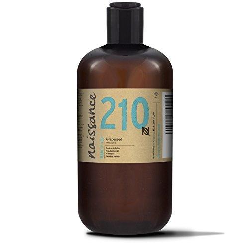 Naissance Aceite Vegetal de Semillas de Uva 500ml - 100% natural, vegano y no...