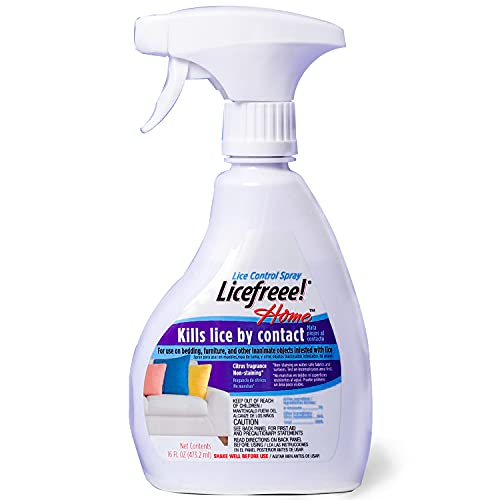 Licefreee Home Spray - Furniture, Bedding and Household Spray | Kill Head Lice, Nits and Super Lice on Contact With No Harsh Chemicals | Non-Staining Formula | 16 fl oz