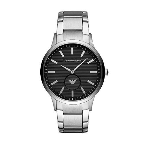 Emporio Armani Herren Analog Quarz Uhr mit Edelstahl Armband AR11118