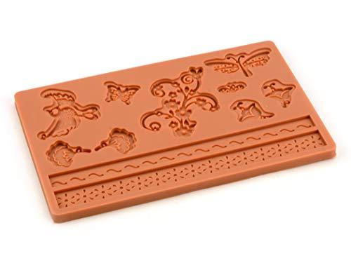Pati-Versand 12682 Moule, Silicone, Orange, 24 x 15 x 1 cm