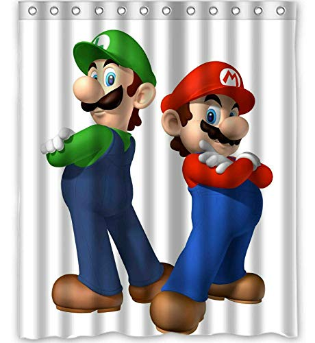 ajhgfjgdhkmdg Mario Bros Bros Cortina de Ducha Impermeable fácil de Limpiar Duradera y Resistente al Desgaste