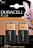 Duracell 75051885, Pila Alcalina, 9 V x2 Plus Power