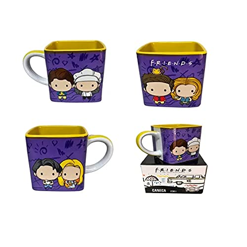 Caneca de Porcelana Chá Café Friends Kawai 300ml presente