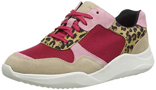 Clarks Sift Lace, Zapatillas para Mujer, Negro (Leopard Print Leopard Print), 38 EU