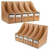 TOSSOW ファイルボックス a4 紙 ファイル立て ファイルスタンド 収納ボックス ボックス ファイル 組み立て式 10個組 ホーム オフィス用品