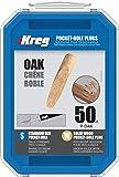 Solid-Wood Pocket-Hole Plugs - Oak