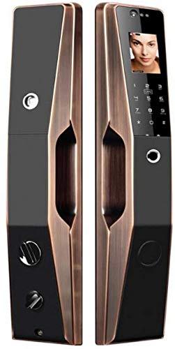 SHKUU Cerradura Puerta electrónica Cerradura Puerta biométrica Inteligente con Huella Digital, Cara, tecnología reconocimiento Huellas Palmas para la Seguridad la Oficina del apartamento en el hogar