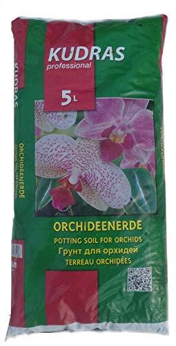 Samenshop24® Orchideenerde, Substrat in Gärtnerqualität, Inhalt: 5 Liter, Spezialerde, luftige und lockerer Struktur vermeidet Staunässe/Wurzelfäule, mit Dünger für schöne & intensive Blüten