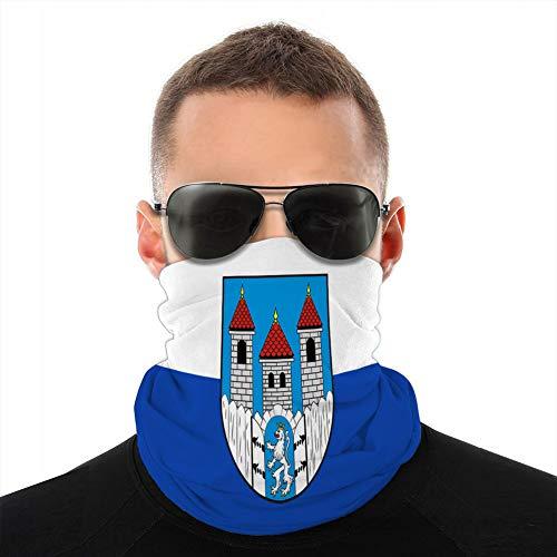 Vbndfghjd diademas de microfibra para la cabeza de la bufanda de la cabeza de la cubierta para deportes al aire libre de la bandera de Holzminden en la parte inferior de la sajonia alemania cubierta de la boca