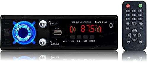 Sound Boss MP3/BLUETOOTH/USB/SD/AUX/FM Car Stereo (Single Din)
